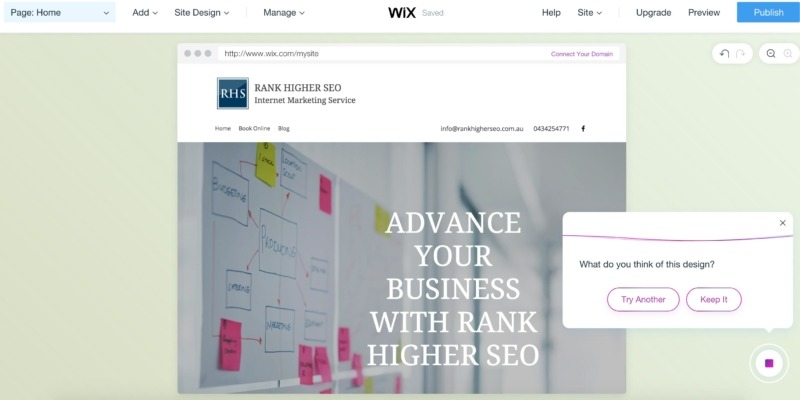 Wix ADI interface