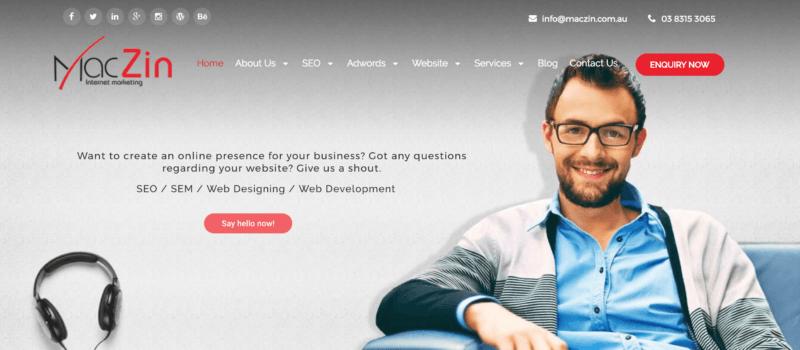 maczin website screenshot