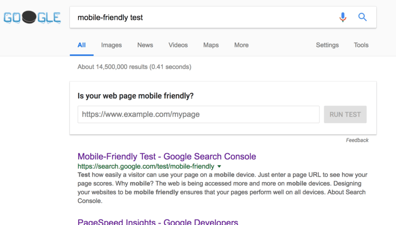 mobile friendly test google results