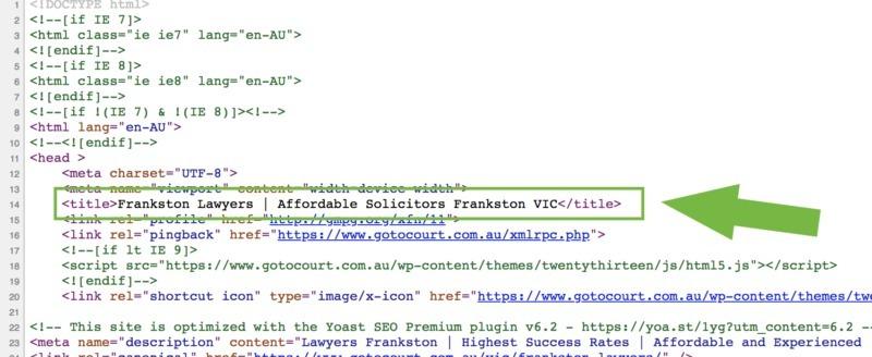 meta title tag code