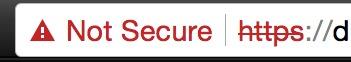ssl not secure url